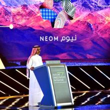 Nadhmi Al Nasr, CEO, NEOM, at the Future Investment Initiative Conference in 2018