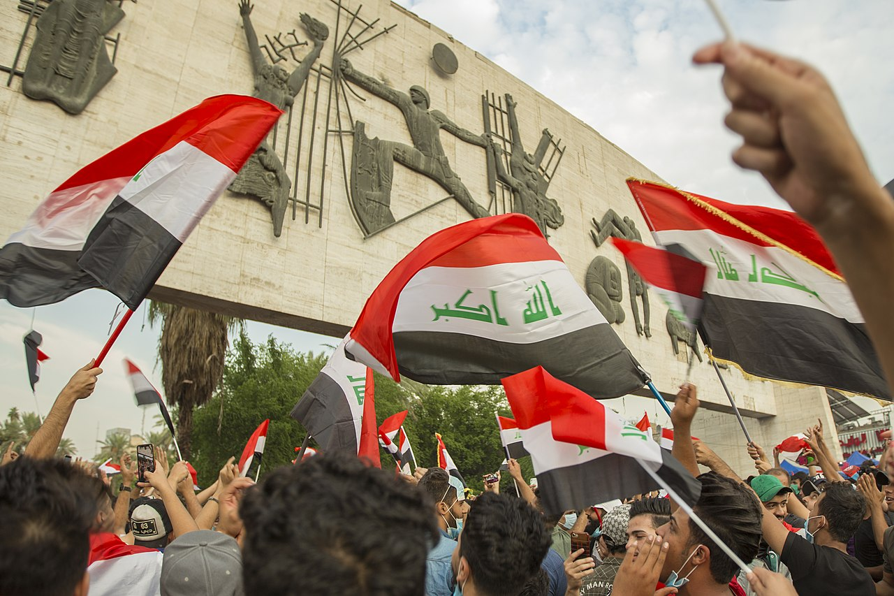 Hundreds of Iraqis mark two years since anti-government protests